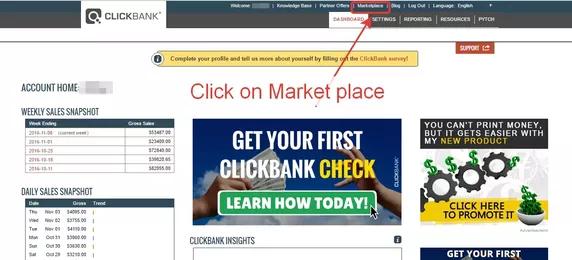 clickbank market place