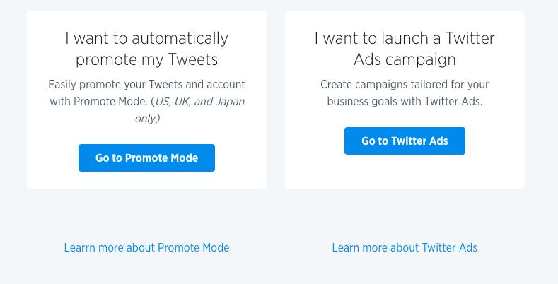 Twitter ads option